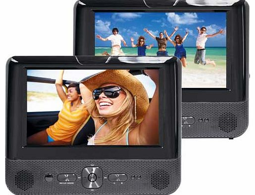 7 Inch Dual Screen In-Car DVD Player