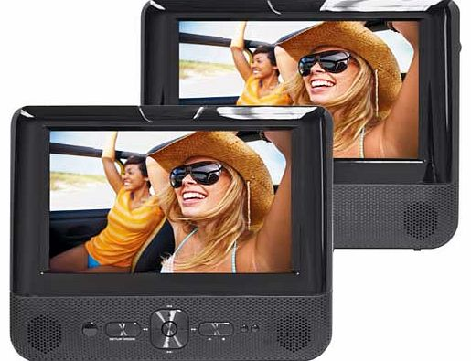 7 Inch Twin Screen In-Car DVD Player