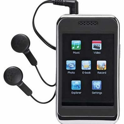 8GB 2.8 Inch MP3 Player with Video - Black