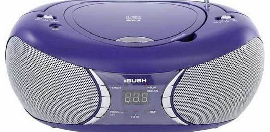 Portable CD & MP3 Player Stereo Boombox - Purple