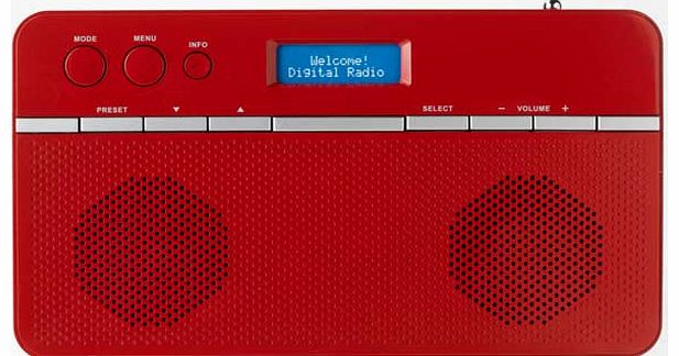 Stereo DAB Radio - Red
