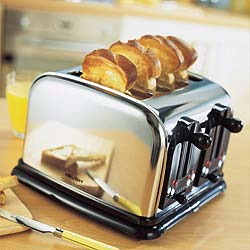 Traditional Chrome Toaster