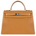 Classic Embossed Calfskin Leather Handbag