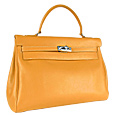 Classic Smooth Calfskin Leather Handbag
