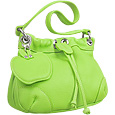 Pistachio Green Drawstring Leather Bag