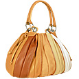 Tulip - Beige to Brown Leather Drawstring Ring Tote