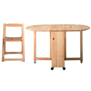 Folding Table and Four Chairs