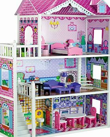 Butternut Large Mansion Wooden Dolls House amp; Accessories