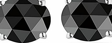 BuyFineDiamonds Special Offer..!! 0.40 Carat Black Diamond Stud Earrings, 925 Sterling Silver -Screw Back