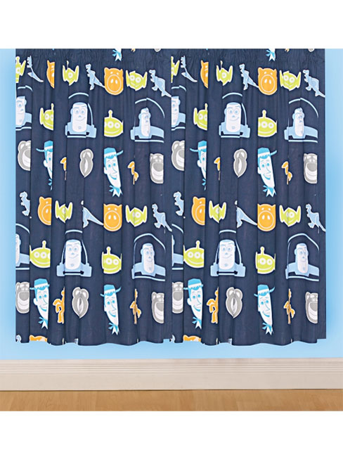 Toy Story Space Curtains 72` drop