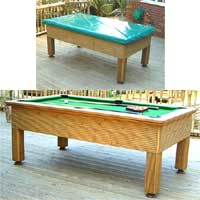 The Evergreen Outdoor Pool Table Set 1 6 x 3 Foot