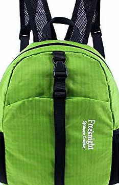 BXT Travel Backpack Waterproof Nylon Lightweight Daypack Foldable Outdoor Sporting Shoulder Bags - Green