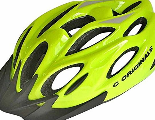 C ORIGINALS S380 CYCLING HELMET (HI VIS YELLOW)