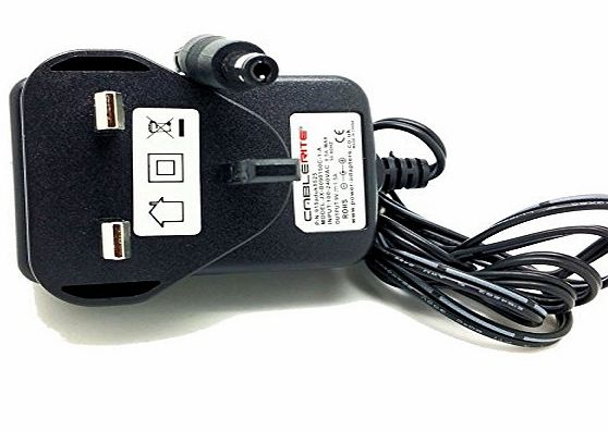 CableRite Kettler Giro P Advantage Exercise Bike 9v Mains power supply adapter Quality charger