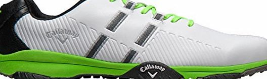 Callaway Chev Mulligan, Mens Golf Shoes, Blanco / Gris / Verde, 11 UK
