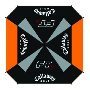 FT-IQ SQUARE GOLF UMBRELLA Black/Orange