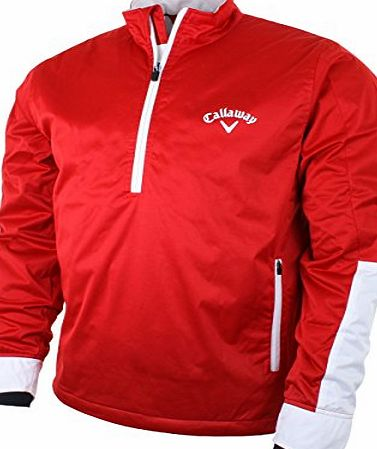 Callaway Golf 2014 Mens 1/4 Zip Nautical Thermal Jacket - Salsa - M