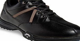 Callaway Mens Chev Comfort Spiked Golf Shoes with Lightweight EVA Midsol, One Year Waterproof Warranty, Black, Regular Fit, 7