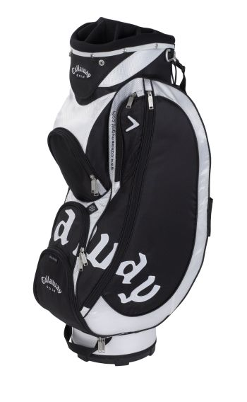 STRIKE CART TROLLEY GOLF BAG Black/White