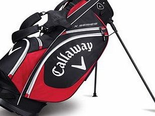Callaway X-Series Stand Bag 2017 Black/Red/White Black/Red/White
