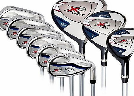 Callaway X2 Hot 9-Piece Golf Club Set Right Handed 3 x Head Covers BRAND