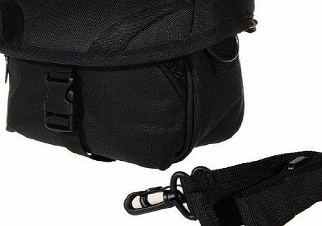 Black DV Camcorder Bag case with Shoulder Strap for Canon JVC Panasonic Samsung Sony Toshiba Hitachi Kodak DV / Cameracorder