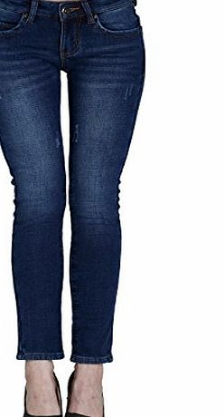 Camii Mia Womens Winter Slim Fit Fleece Jeans (W34, Blue 3)