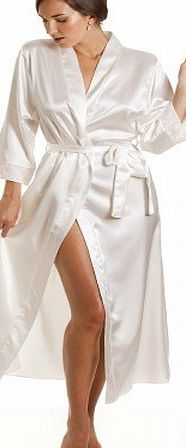 Camille Womens Ladies Luxury Ivory Satin Long Wrap 22/24