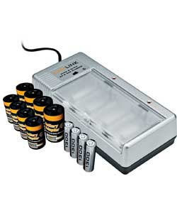Universal Charger with 4 AA Batteries