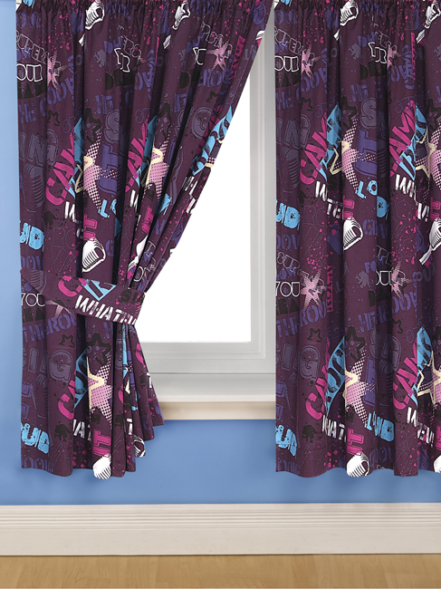 Rock Stars Curtains 54 Drop - Great Low Price