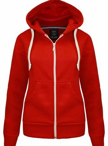 CANDY FLOSS LADIES HOODIE SWEATSHIRT FLEECE JACKET TOP RED SIZE 10