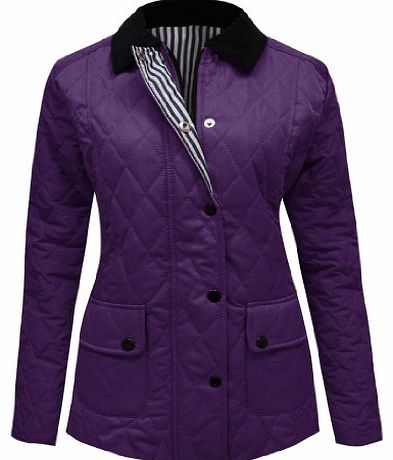 CANDY FLOSS NEW WOMENS LADIES QUILTED PADDED JACKET PURPLE SIZES 20