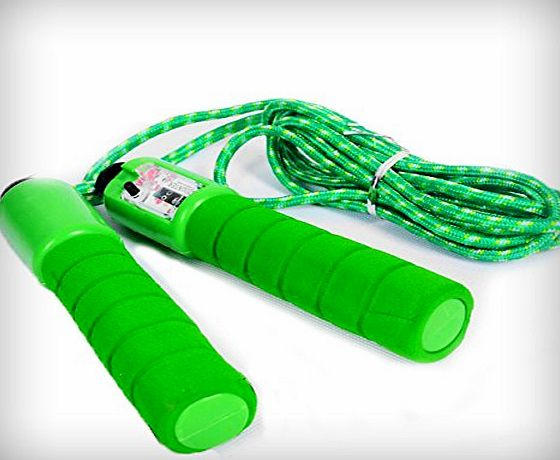 canlan Digital Skipping Jump Rope with Counter Timer for Fitness Best Gifts for Boys and Girls Age 5-10 Year Old