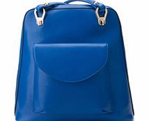 Royal blue leather rucksack