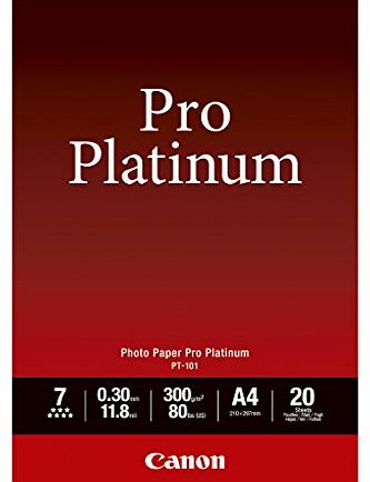 Canon 2768B016 PT-101 Photopaper A4 (Pack of 20)