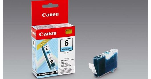 Canon BCI-6PC Ink Tank Cartridge Page Life 280pp Photo Cyan Ref 4709A002