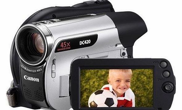 Canon DC420 Camcorder - Silver (45x Advanced Zoom,2.7 inch Widescreen Colour LCD)