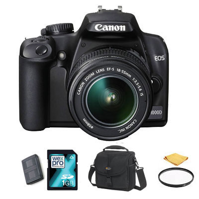 EOS 1000D + 18-55mm IS Lens - FILTER KIT