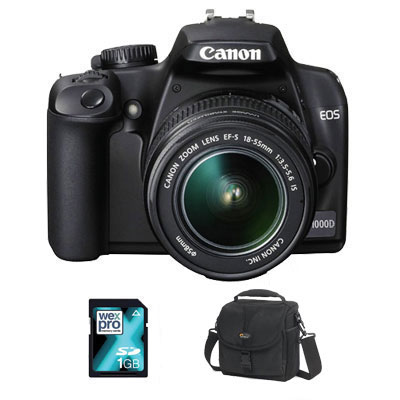 EOS 1000D + 18-55mm IS Lens - MEMORY KIT