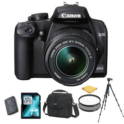 EOS 1000D + 18-55mm IS Lens - TRIPOD KIT