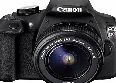 Canon EOS 1200D Digital SLR Camera with EF-S 18-55 mm f/3.5-5.6 III Lens (Certified Refurbished)