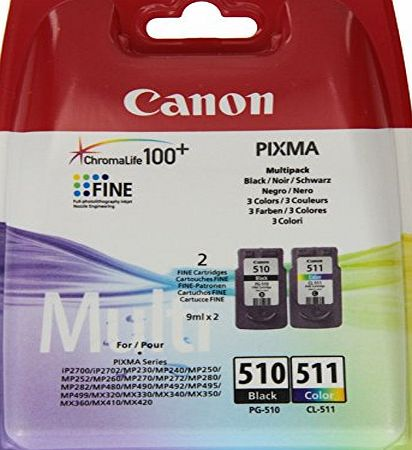 Canon PG510-CL511 Ink Cartridge - Black/Colour (Pack of 2)