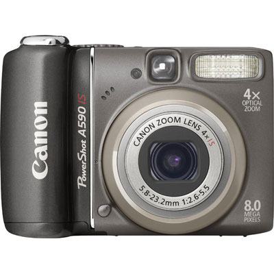 PowerShot A590 IS Black Compact Camera