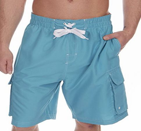 Cargo Bay Mens Swimming Board Shorts Swim Trunks Swimwear Beach Holiday Velcro Pockets