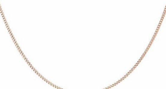 Carissima 9ct Rose Gold Curb Chain of 46cm