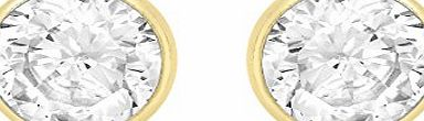 Carissima 9ct Yellow Gold 4mm Round Cubic Zirconia Stud Earrings
