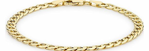 Carissima 9ct Yellow Gold 6 Sided Curb Bracelet 19cm/7.5``