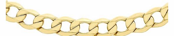 Carissima 9ct Yellow Gold 6 Sided Curb Chain 51cm/20``