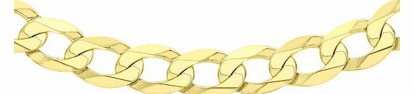 Carissima 9ct Yellow Gold Flat Curb Chain 61cm/24``