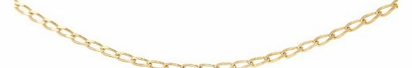 Carissima 9ct Yellow Gold Open Curb Chain 51cm/20``